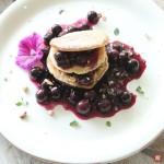 Pancakes mit Trauben
