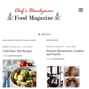 Chef's Handyman Food Magazine