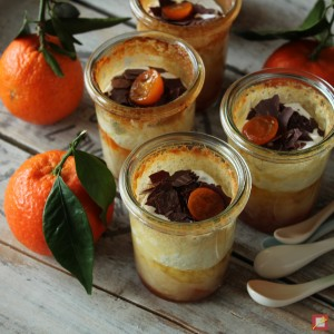 flan with tangerines and kumquats